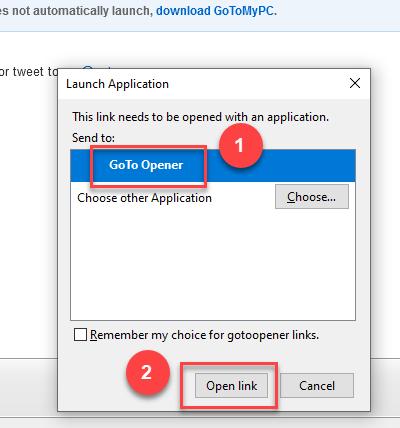 Screenshot of Launch Application dialog